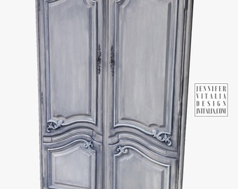 Sold Hold for Anea French Hand Painted Armoire