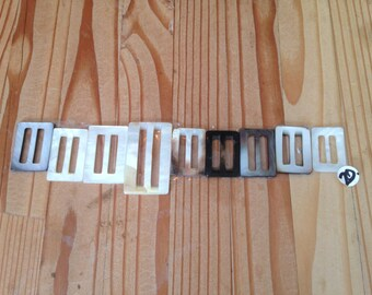 Rectangular Mother of Pearl Buckles for jewelry makers