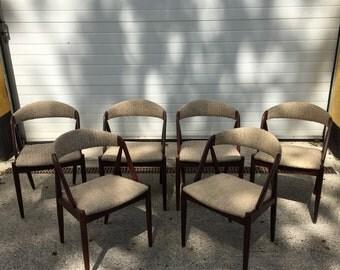 6 Kai kristiansen chairs model #31, mid century