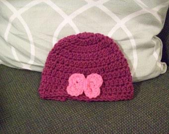 Purple Baby Hat