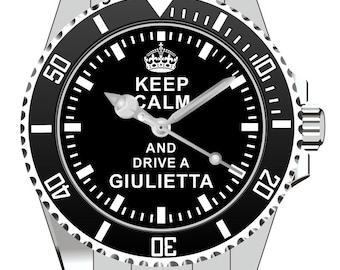 Keep Calm and drive a Giulietta Watch -Men Watch Jewelry Alfa Romeo Gift Present for Men- Watch 1641