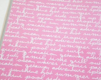 Pink Passport Cover Quote, Travel Words. Passport  Sleeve, Case, Holder