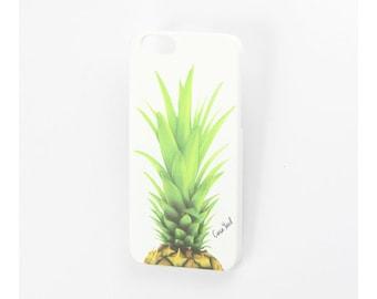 White Pineapple Head iPhone 7 case, iphone 6s case iphone 6 case iphone 5 case iphone 6s plus case iphone 6 plus case