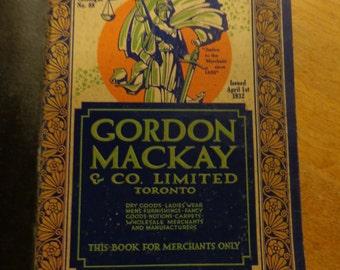 Gordon, Mackay and Company Limited Wholesale Catalogue 1932 No. 88