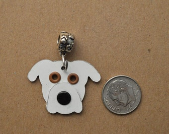 American Bulldog Pendant Pet Dog Metal Charm