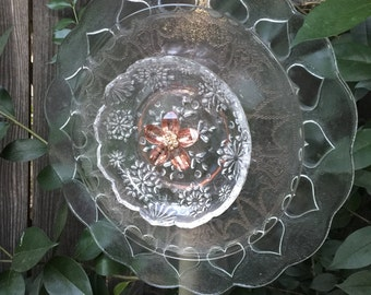 "Glass Plate Flower, ""Peachy Keen"""