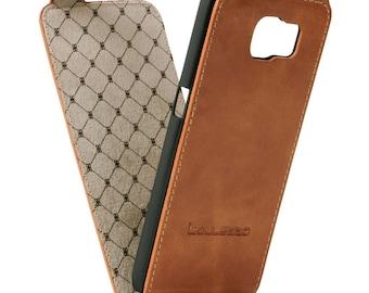 Samsung Galaxy S6 Flip Case, Galaxy S6 Leather Case, Galaxy S6 Best Leather Case Flip Case, Rustic Brown