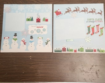 Let is snow premade 12x12 scrapbook pages