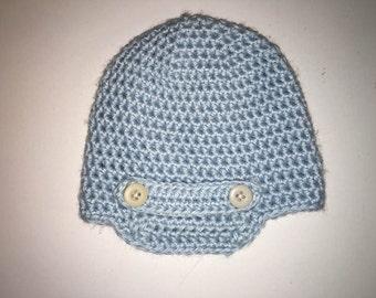 Crocheted Newsboy Hat Size 3-6 months