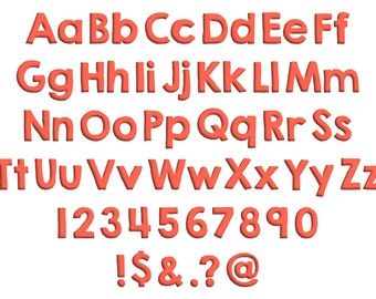 Neptune Machine Embroidery Font Monogram Alphabet, Bold Embroidery Font, Digital Embroidery Font Download, Bx Format Included, 3 Sizes