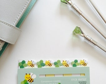 Cute Bee with 4 Leave Clover Pageflag Tab