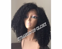 Handmade Kinky Curly Lace Closure Wig - Malaysian Remy Virgin Hair