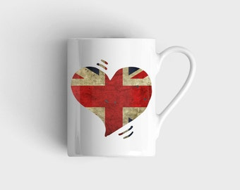 Love UNITED KINGDOM Flag Mug