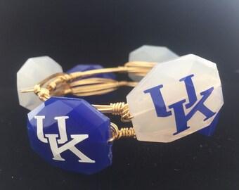 University of Kentucky Wire Wrapped Bangle Bracelet University of Wildcats Gameday Bangel Bracelet