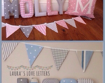 Beautiful nursery bunting, baby, children, flags,