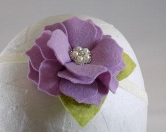 Lavender Felt Flower Headband