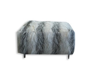Faux fur stool (Foot rest)