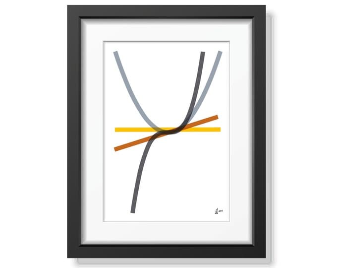 Derivatives 08 [mathematical abstract art print, unframed] A4/A3 sizes
