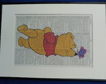 Winnie the Pooh No. 1 Wall Art Print, winnie the pooh decor, winnie the pooh poster, winnie the pooh, kids bedroom decor