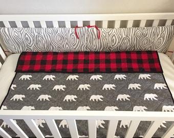 Plaid Crib Bedding Etsy Ca