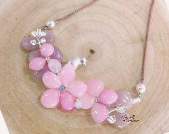 Pressed flower jewellery necklace - Real Flower