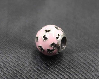 Authentic Genuine Pandora Silver &    Fluttering Butterflies Light Pink 791483EN68