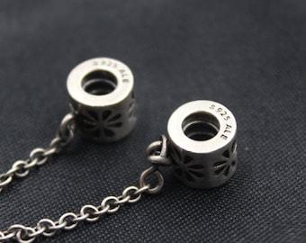 Authentic Genuine Pandora Silver &  charm   Daisy Safety Chain 790385