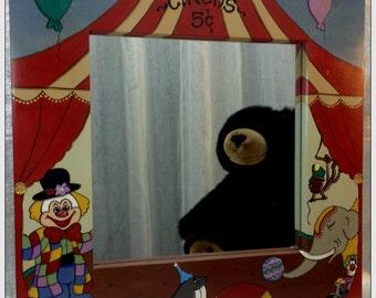 Childs Mirror/ Whimsical Mirror/ Childu0027s Mirror/ Childrenu0027s Furniture/  Clown Mirror/ Childrens