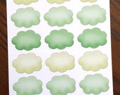 Green Clouds Planner Stickers