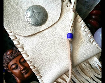 Handmade Genuine Leather Medicine Bag