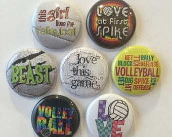 Volleyball Magnets - set of 7