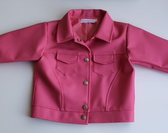 Pink Leatherette jacket for girls