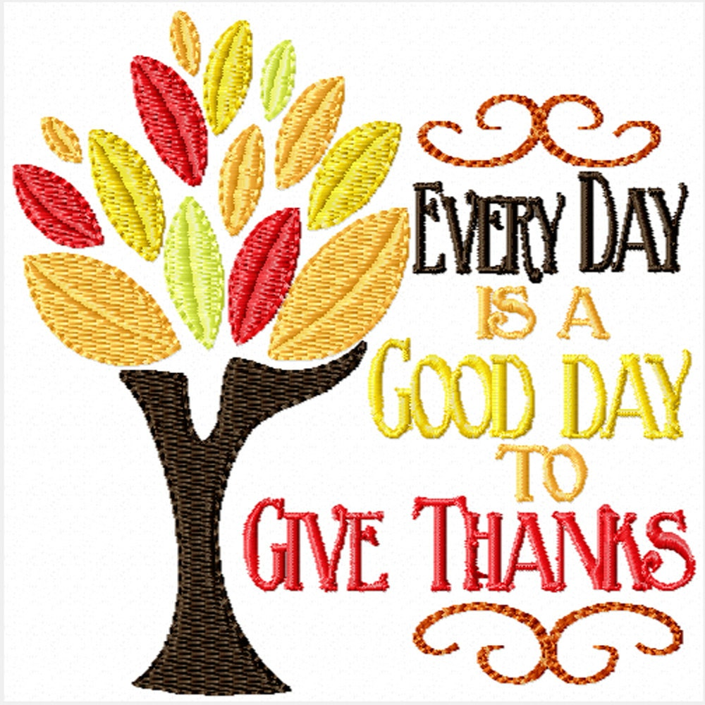 Give Thanks Machine Embroidery Design