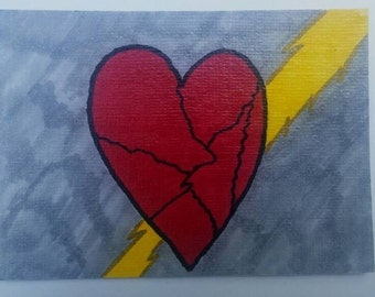 "ACEO ""Electrocuted Heart"""