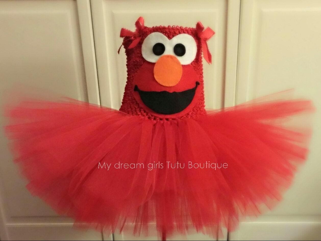 Elmo tutu dress Elmo tutu for baby girl Elmo tutu for