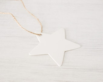 Star Paper Tag with String - Gift Label - Name Tag - Wedding - Party Favor - Birthday - Baby Shower - Christmas decoration - 25Pcs