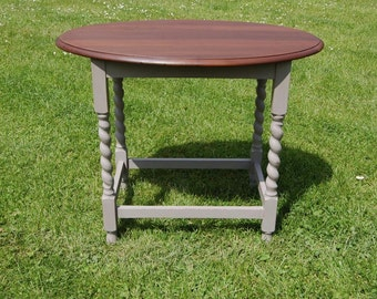Fab Shabby Chic Barley Twist Oval Hall Table - Annie Sloane Paint