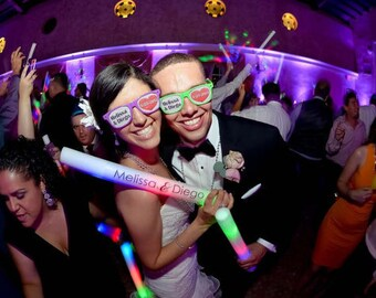 Wedding Accessories, LED Wand, Personalized led Foam Sticks, Personalized Foam Sticks, Party Lights, Party Supplies,