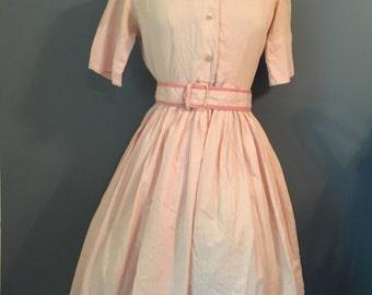 1960's Vintage  candy striper hospital uniform sport dress with skorts.