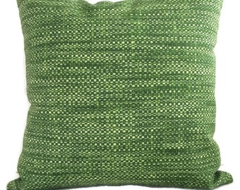 Green Pillow, Indoor Outdoor Throw Pillow Cushion Cover Coastal Pillows, Palm Green Decor Beach House Accent Pillow, Tropical Chair Pillow