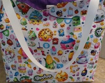 Shopkins Big Shopping World, Reusable Farmers Market / Grocery / Gift / Shopping Bag / Tote