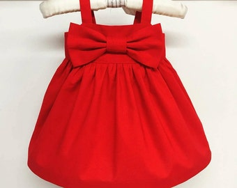 Simple red dress - Etsy