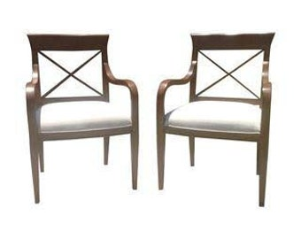 Modern pair of lounge chairs