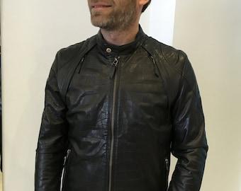New Leather Jacket Artesanal, Croko Printed