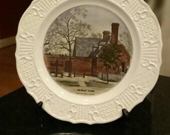 Vintage Colonial Williamsburg Plate/Public Gaol Williamsburg VA/Souvenir