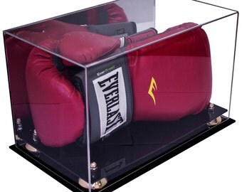 Boxing Glove Display Case With Mirror