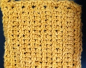 Golden Yellow Wash Cloth, Golden Yellow Face Flannel, Crochet Wash Cloth, Face Cloths, Bamboo Washcloth