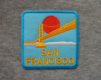 San Francisco The Golden Gate Bridge Applique Embroidered Iron On Patch