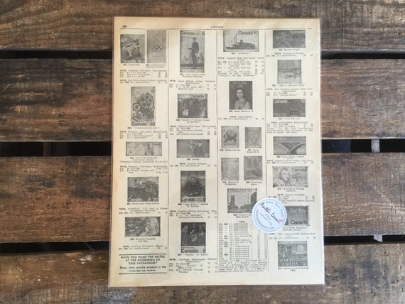 OLD STAMP Pages // Scrapbook Paper // Craft Paper // Vintage Book Pages // Craft Paper Pack // Ephemera Pack // Decoupage Paper // Origami