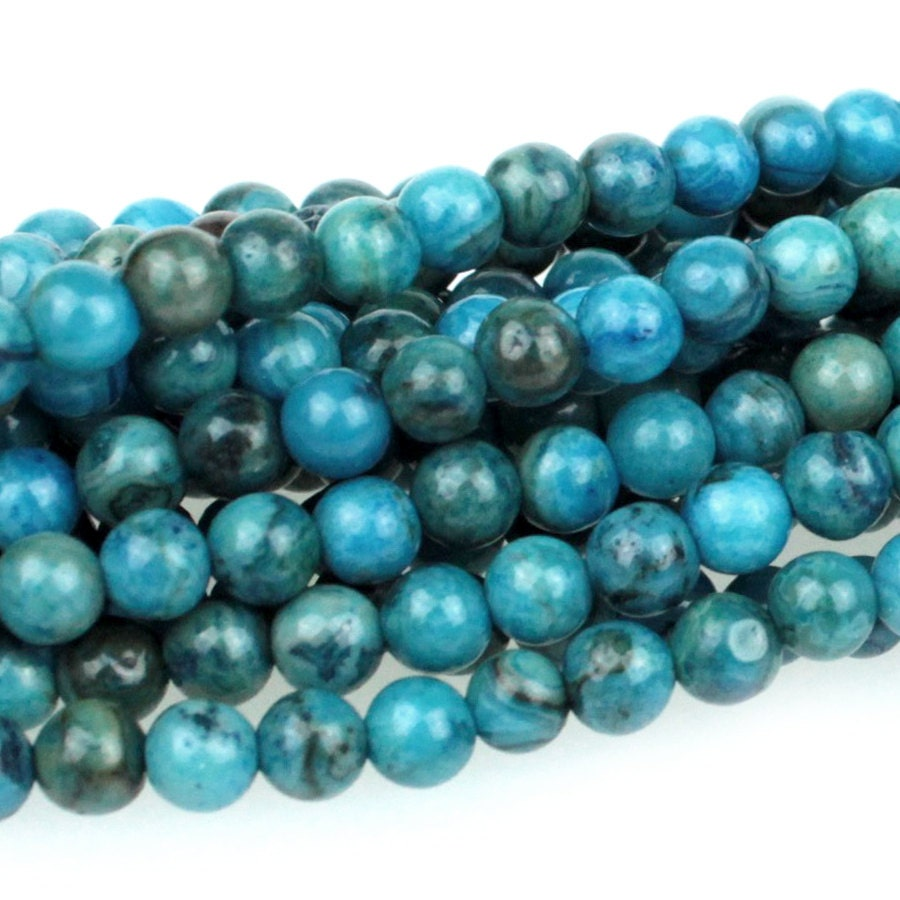 Crazy Lace Blue and Green Agate Gemstone Beads 5mm